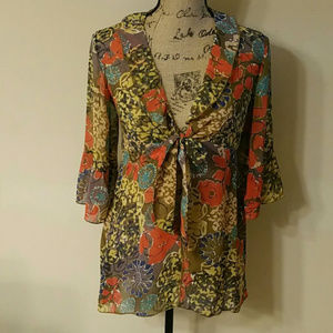 {CAbi} Shakespeare Floral Blouse